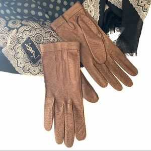 Women's 7 Vintage Aris Leather Gloves